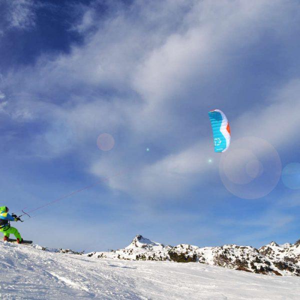 Snowkiten am Obertauern